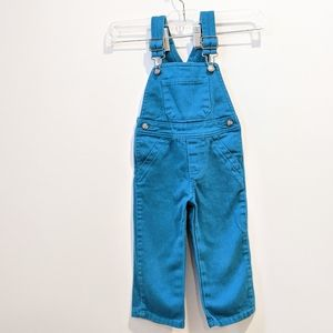 2/$20 1989 Place girls turquoise overalls